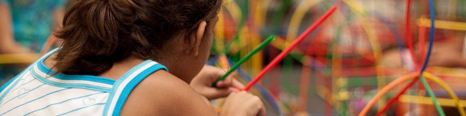 Girl Playing in a Play Place