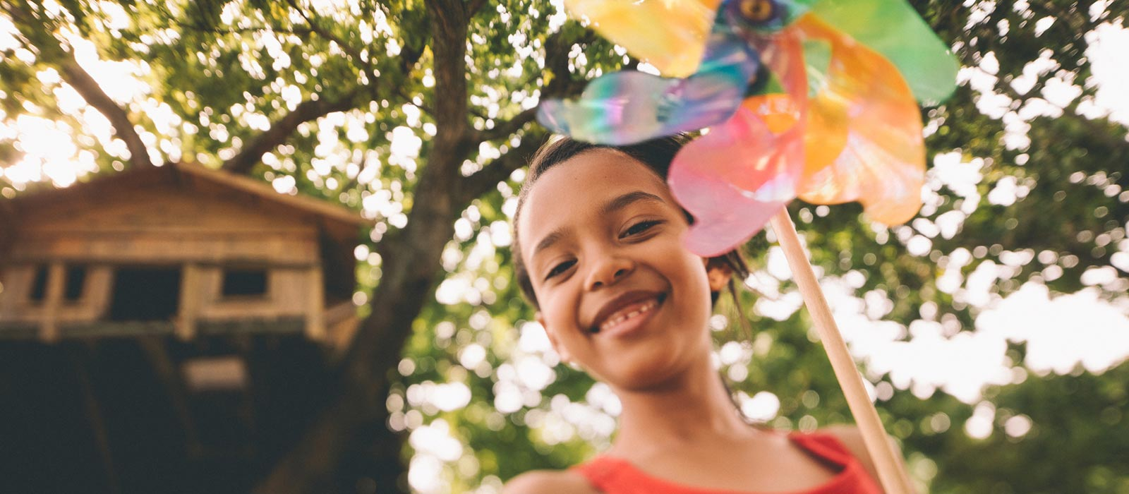 Girl holding a pinwheel